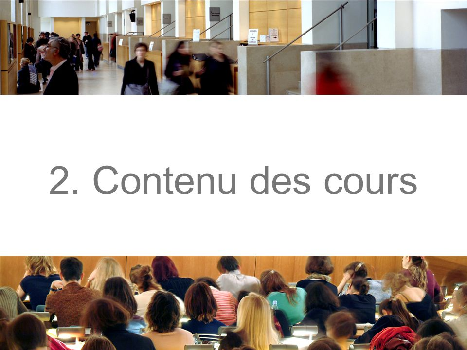 2. Contenu des cours
