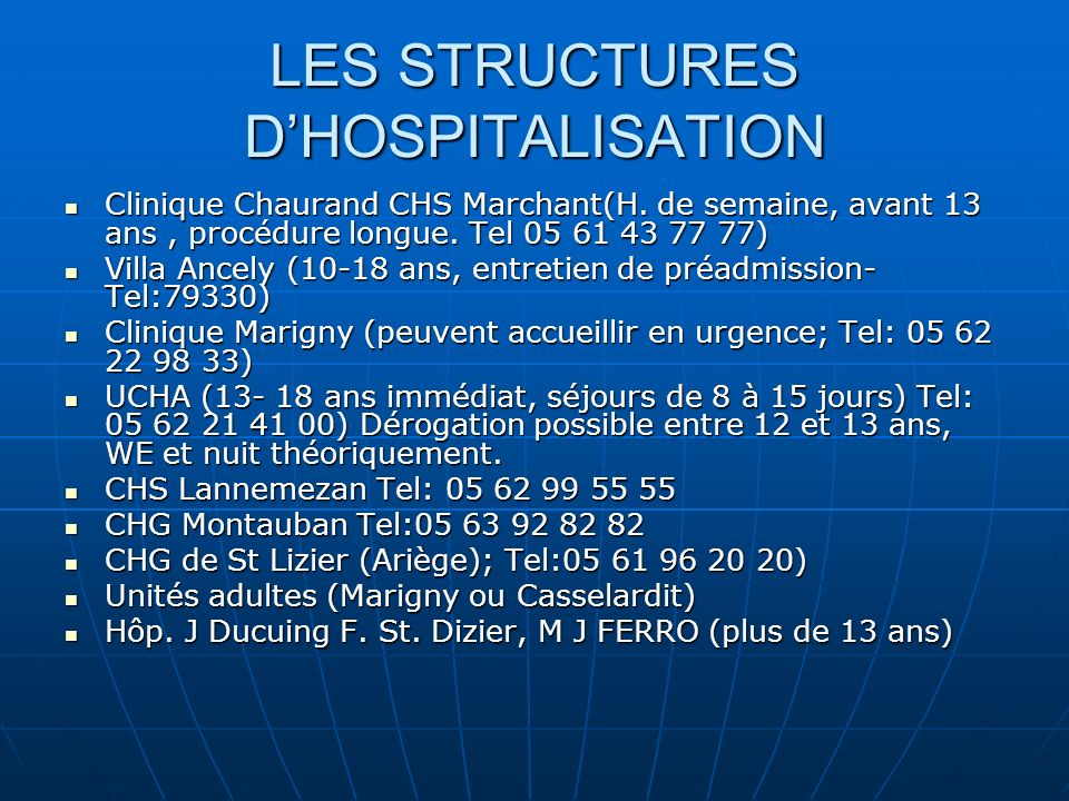 Les urgences en psychiatrie de l enfant et de l adolescent ppt t l charger - Procedure hospitalisation d office ...