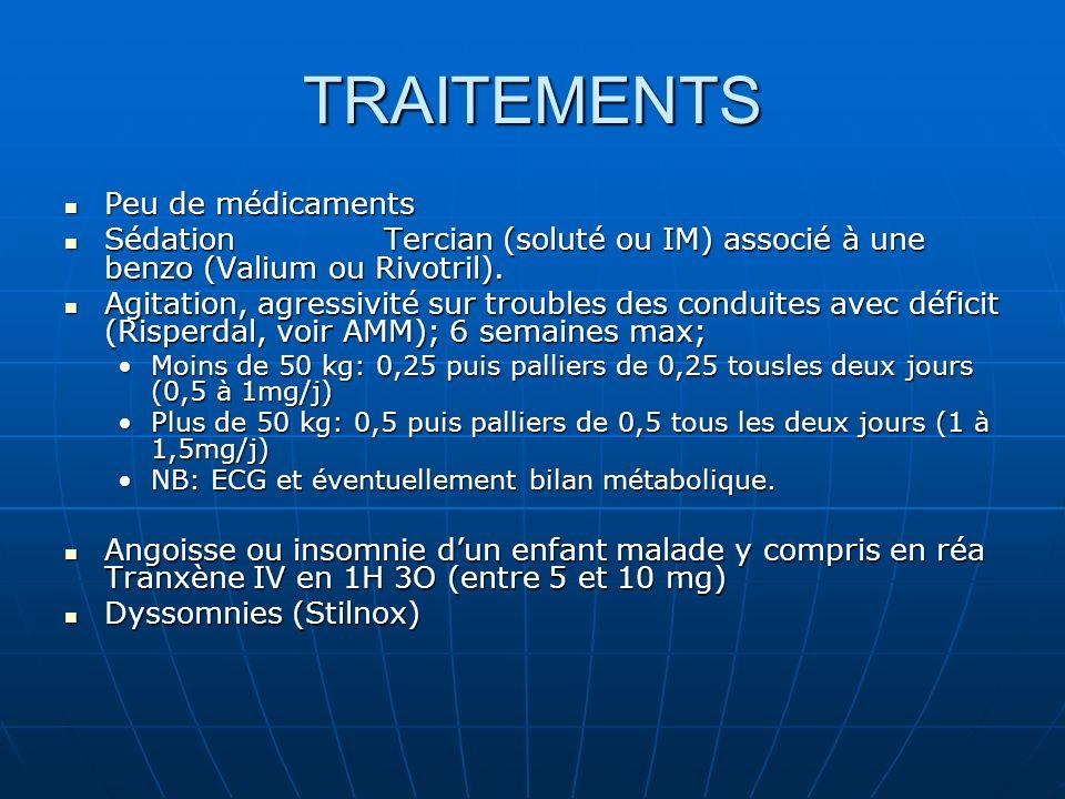 TRAITEMENTS Peu de médicaments