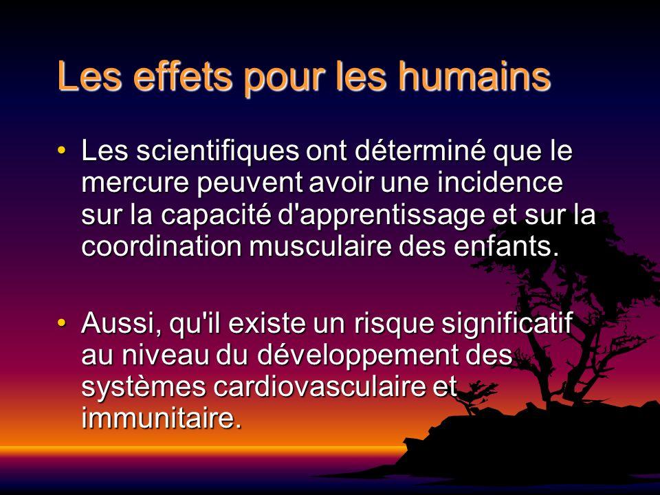 Les effets pour les humains
