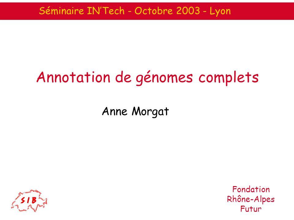 Annotation de génomes complets