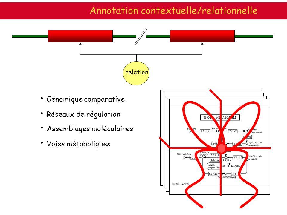 Annotation contextuelle/relationnelle