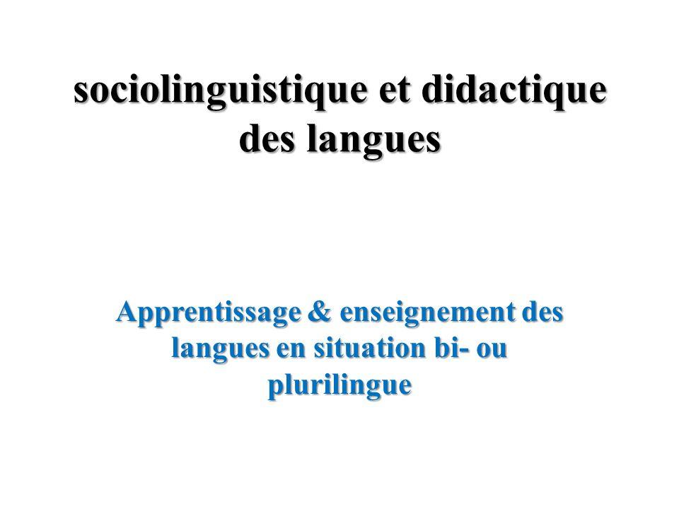 sociolinguistique et didactique des langues