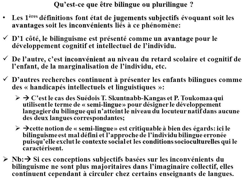 Qu'est-ce que être bilingue ou plurilingue