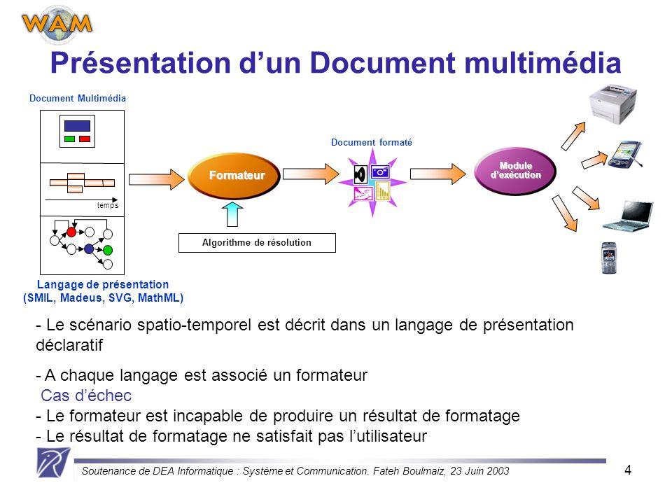 Présentation d'un Document multimédia
