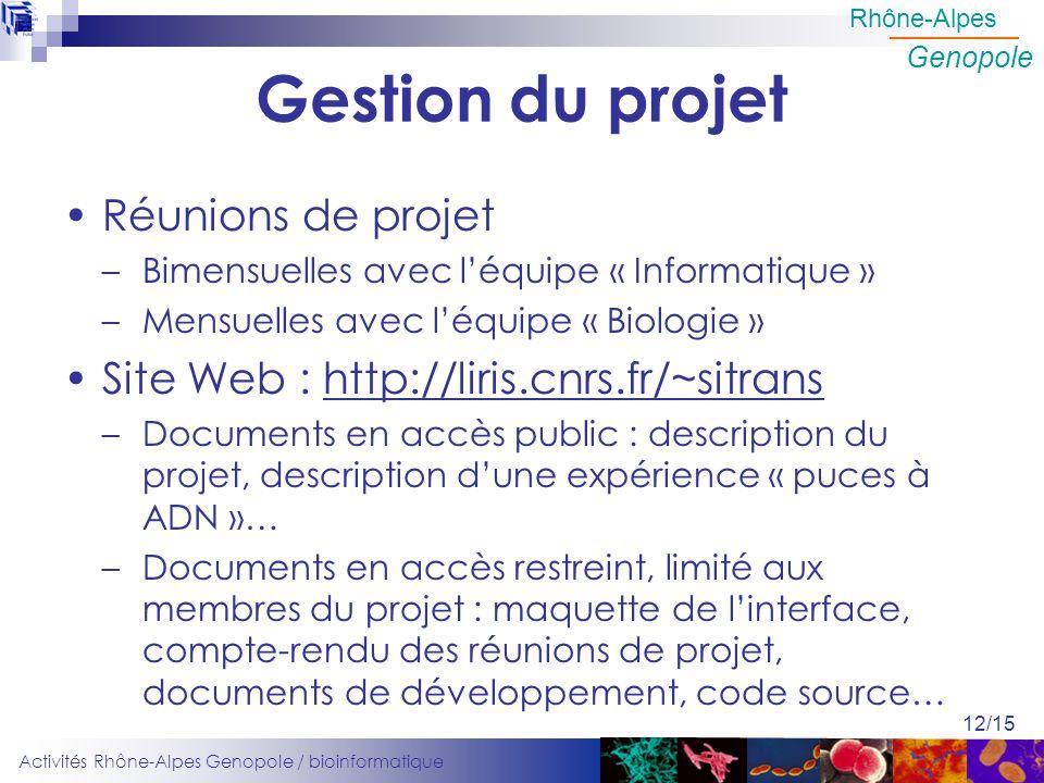 Gestion du projet Réunions de projet