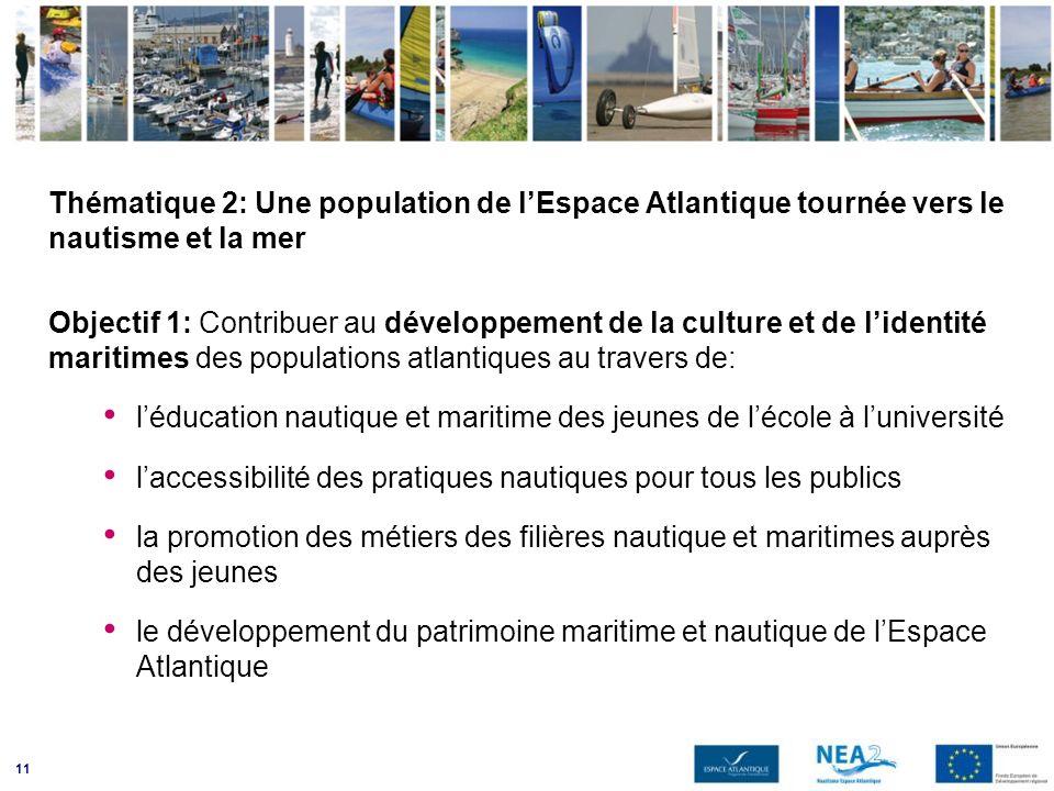 Thématique 2: Une population de l'Espace Atlantique tournée vers le nautisme et la mer
