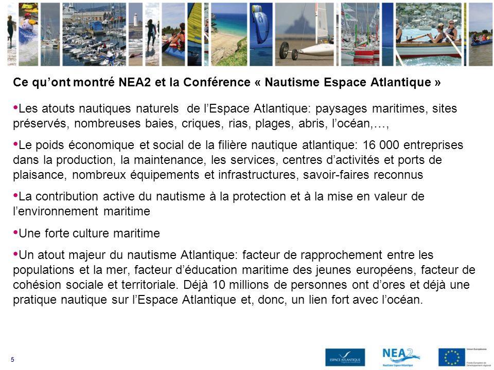 Ce qu'ont montré NEA2 et la Conférence « Nautisme Espace Atlantique »