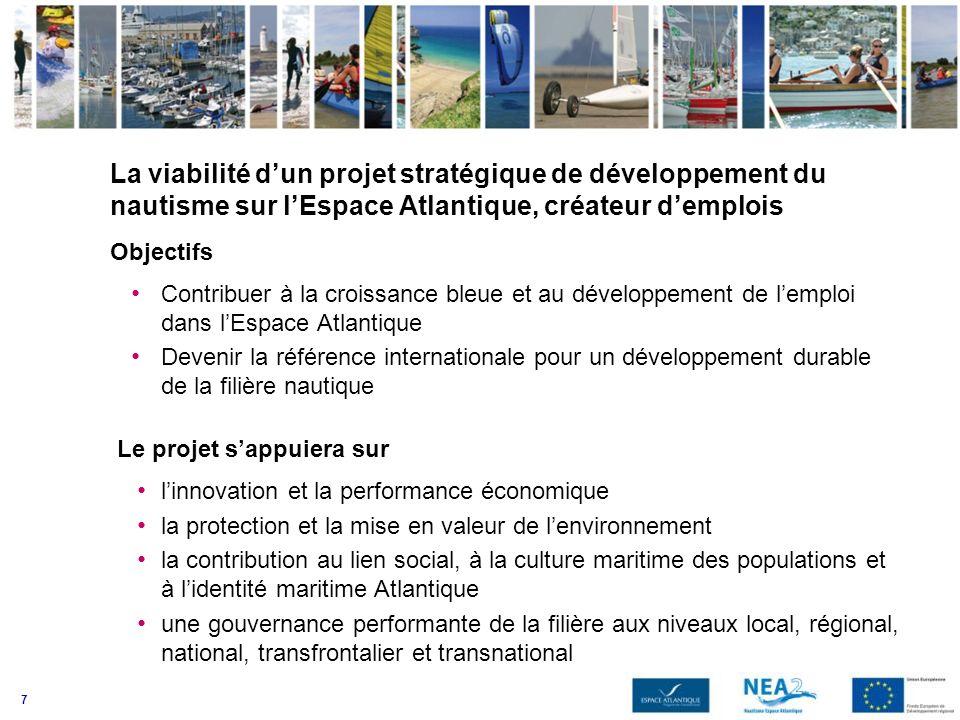 La viabilité d'un projet stratégique de développement du nautisme sur l'Espace Atlantique, créateur d'emplois