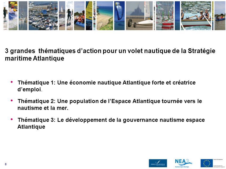 3 grandes thématiques d'action pour un volet nautique de la Stratégie maritime Atlantique