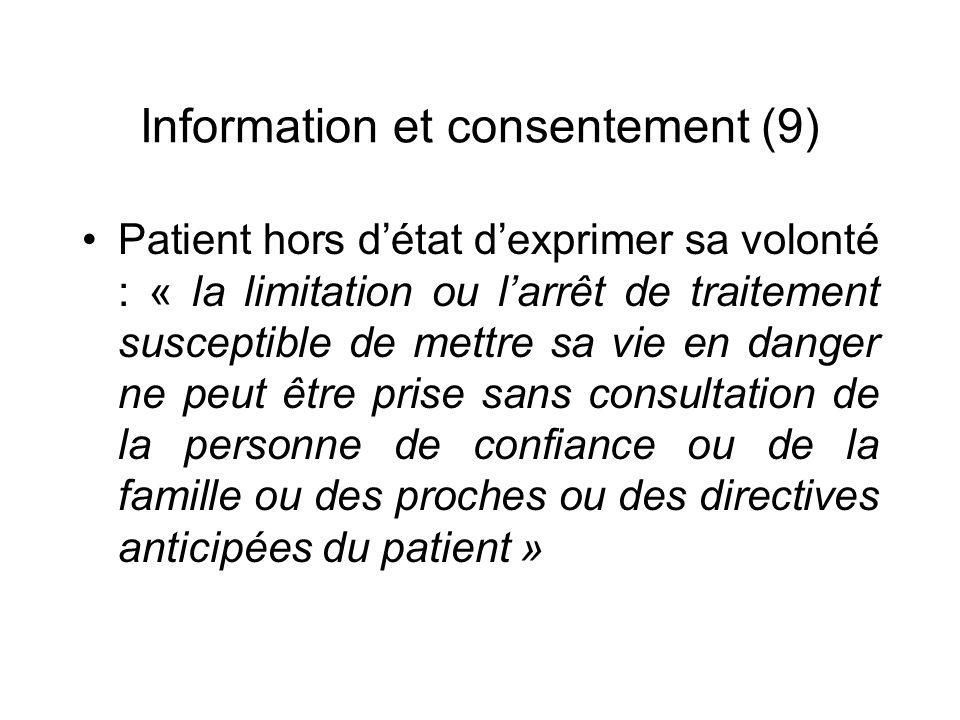 Information et consentement (9)