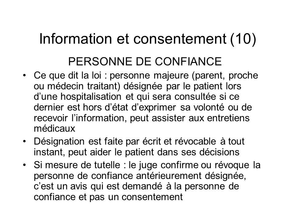 Information et consentement (10)