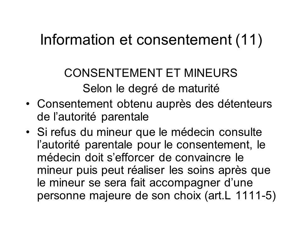 Information et consentement (11)