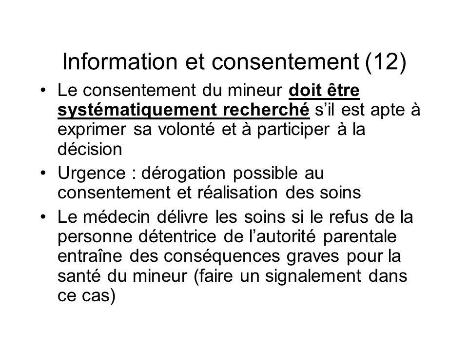 Information et consentement (12)