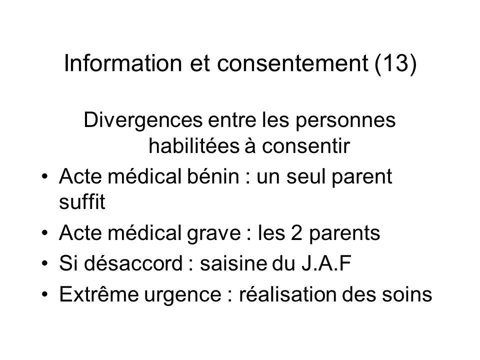 Information et consentement (13)