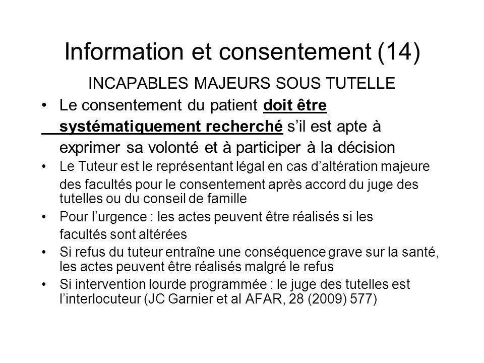 Information et consentement (14)
