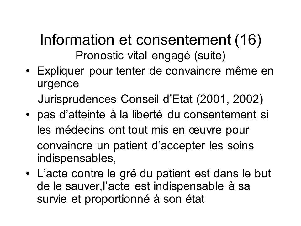 Information et consentement (16)