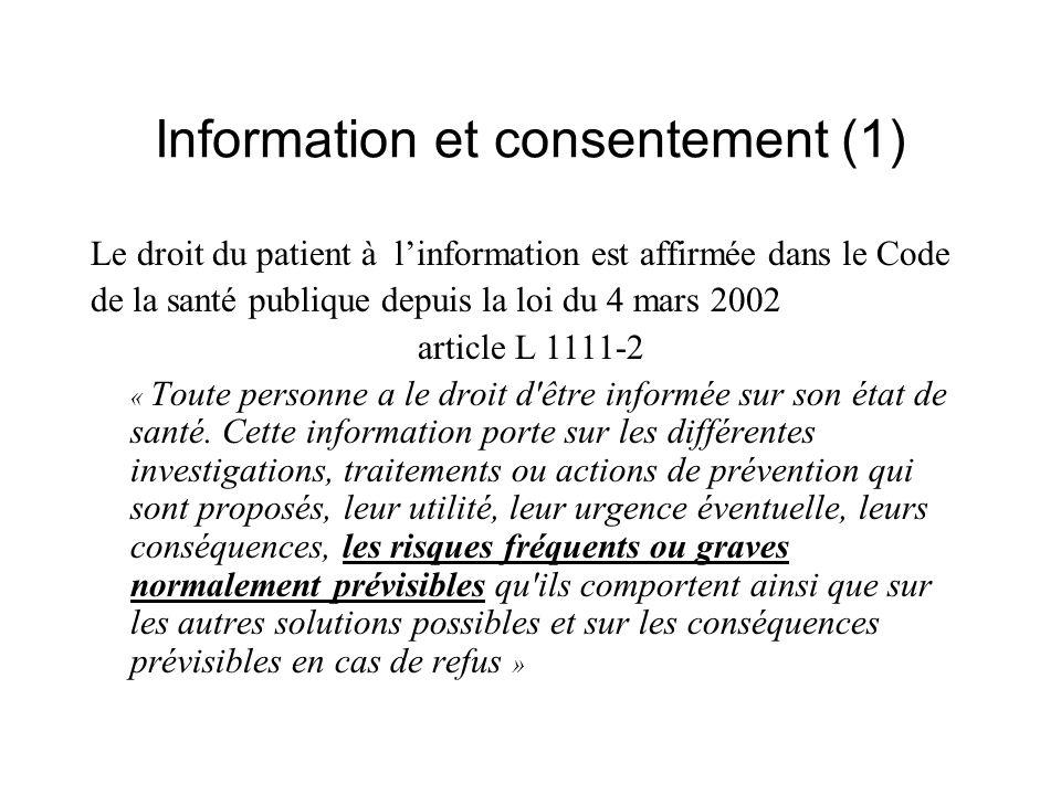 Information et consentement (1)