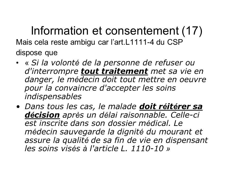 Information et consentement (17)
