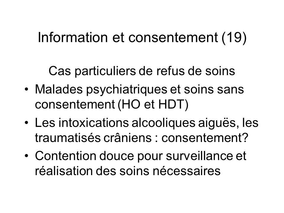 Information et consentement (19)