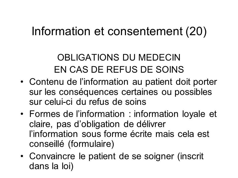 Information et consentement (20)