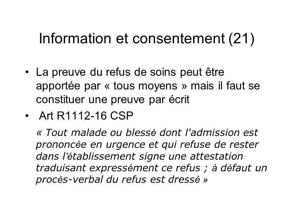 Information et consentement (21)