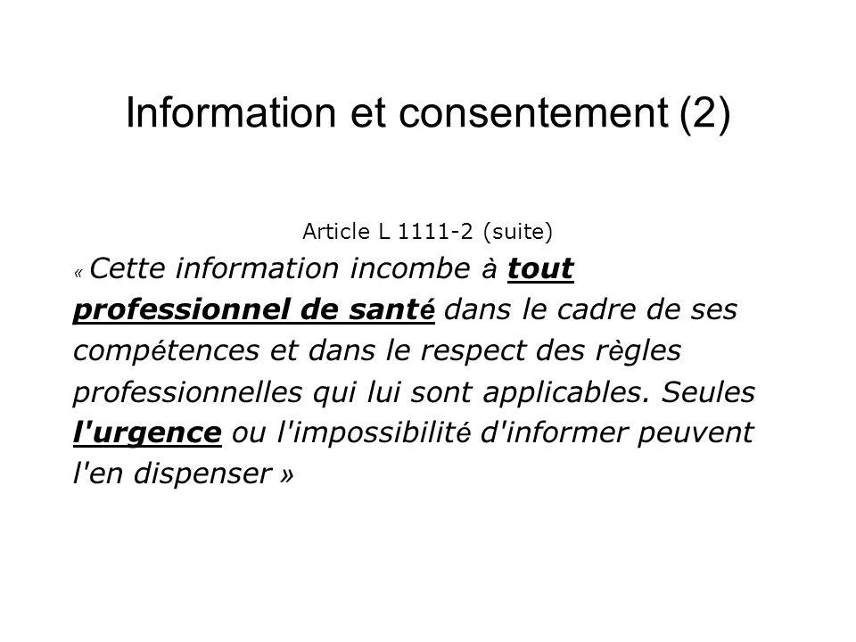 Information et consentement (2)