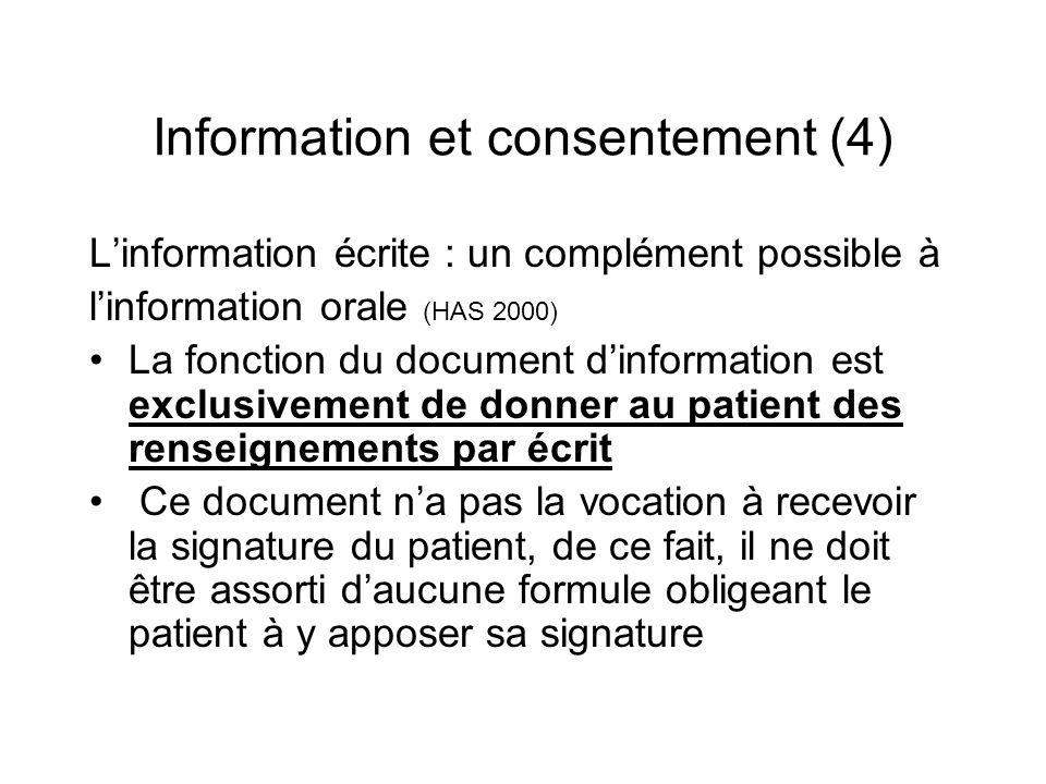 Information et consentement (4)