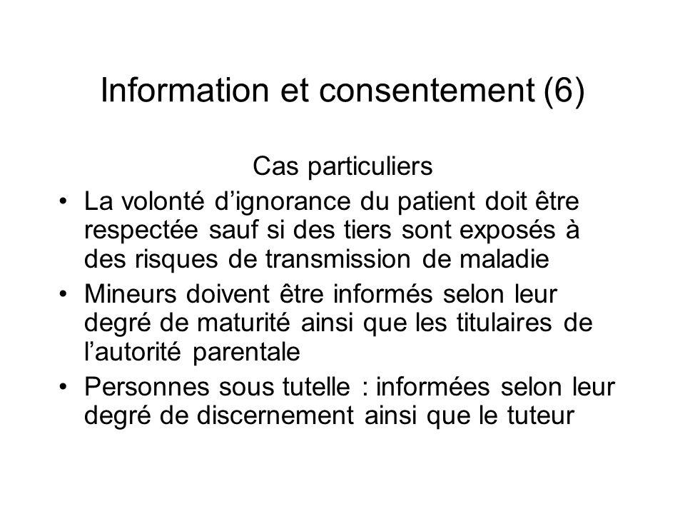 Information et consentement (6)