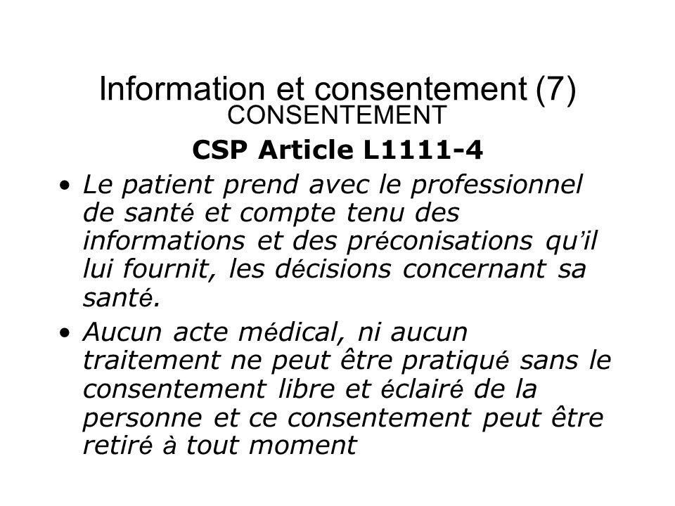 Information et consentement (7)