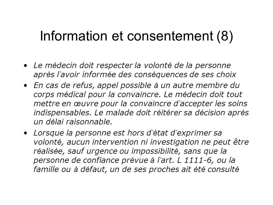 Information et consentement (8)