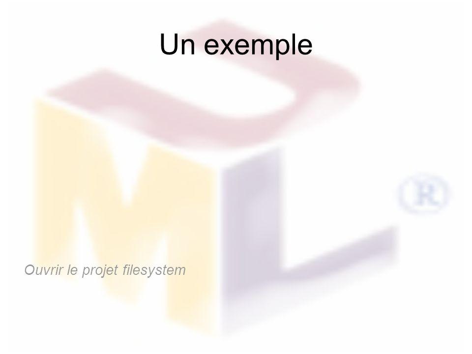 Un exemple Ouvrir le projet filesystem