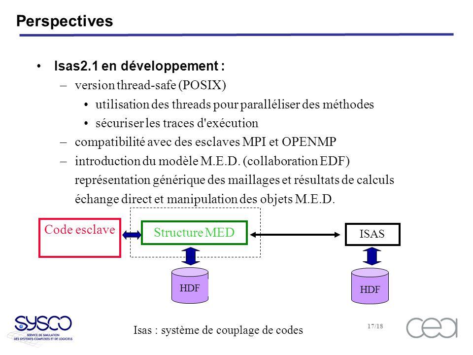 Perspectives Isas2.1 en développement : version thread-safe (POSIX)