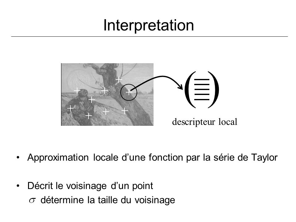 ( ) Interpretation descripteur local