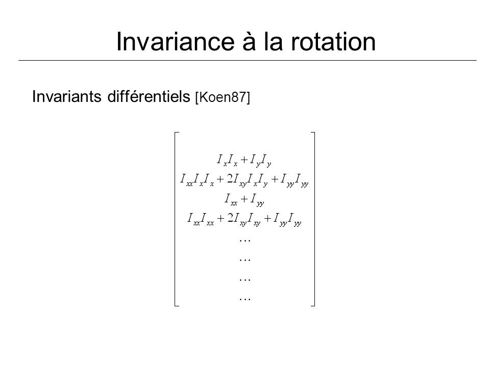 Invariance à la rotation
