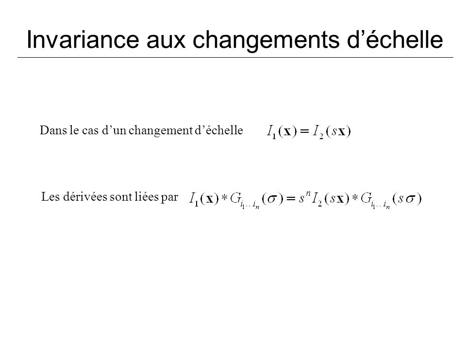 Invariance aux changements d'échelle