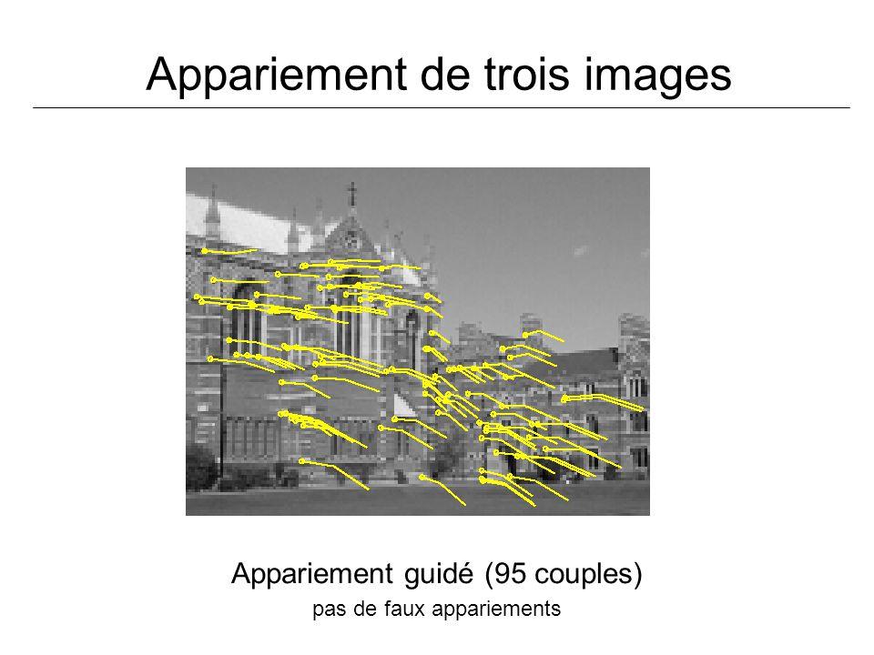 Appariement de trois images
