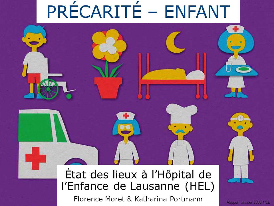 PRÉCARITÉ – ENFANT État des lieux à l'Hôpital de l'Enfance de Lausanne (HEL) Florence Moret & Katharina Portmann.