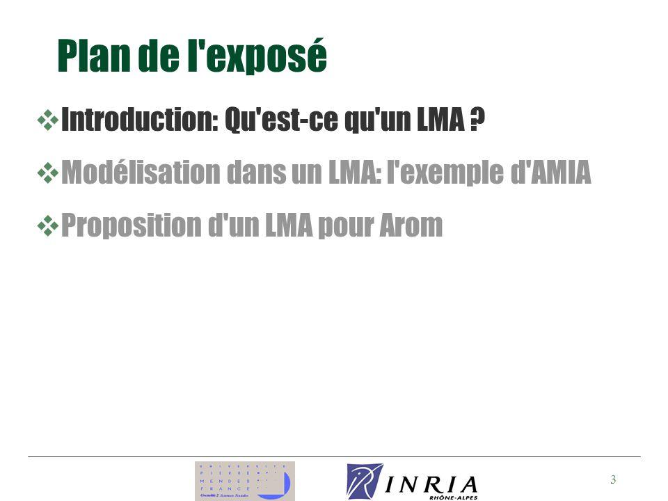 Plan de l exposé Introduction: Qu est-ce qu un LMA