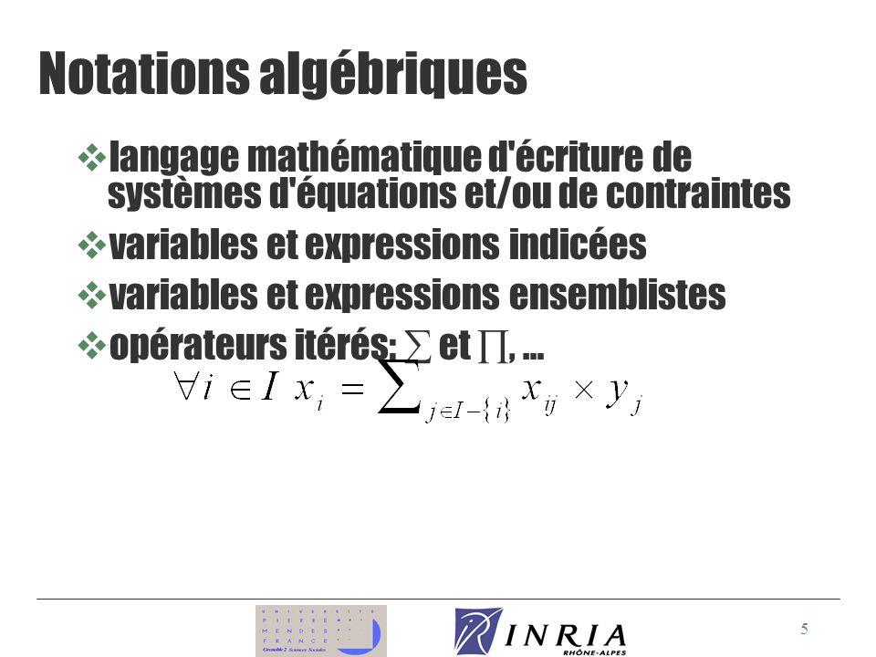 Notations algébriques