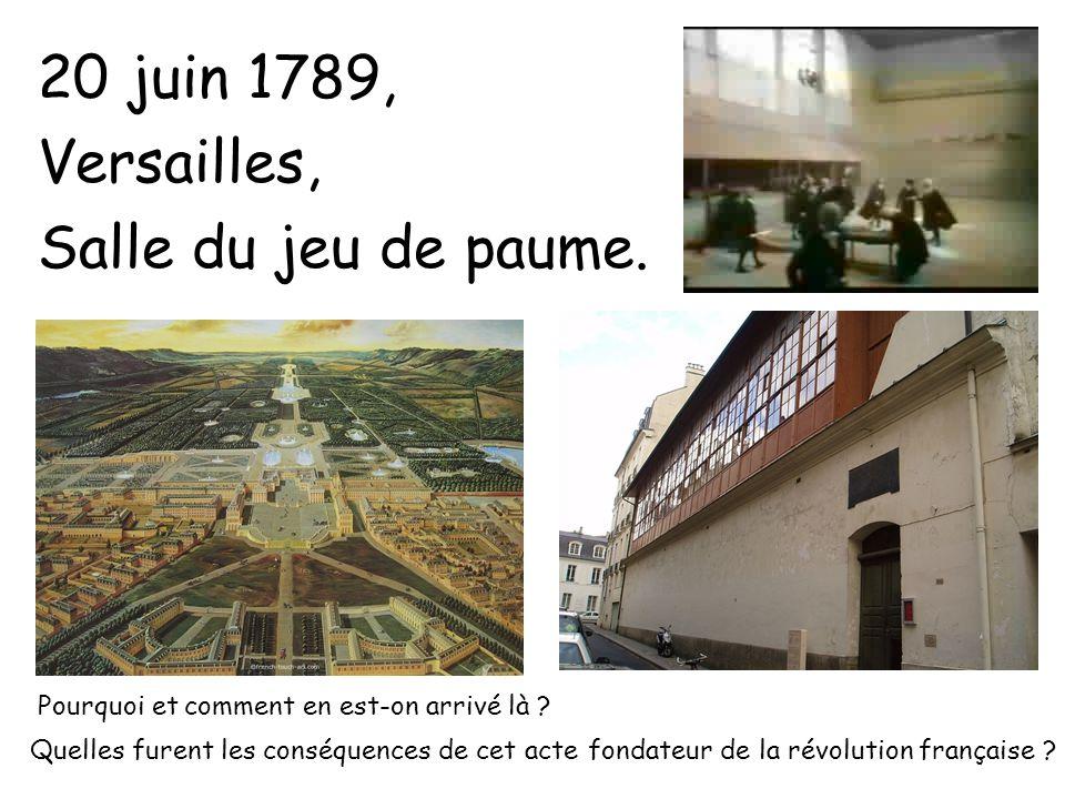 20 juin 1789, Versailles, Salle du jeu de paume.