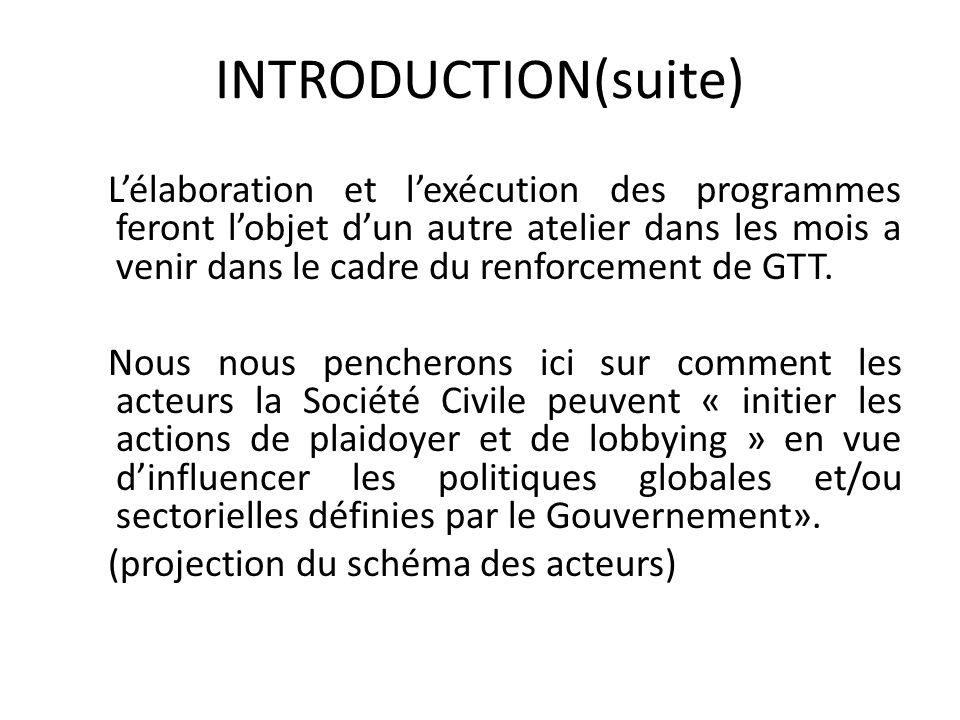 INTRODUCTION(suite)