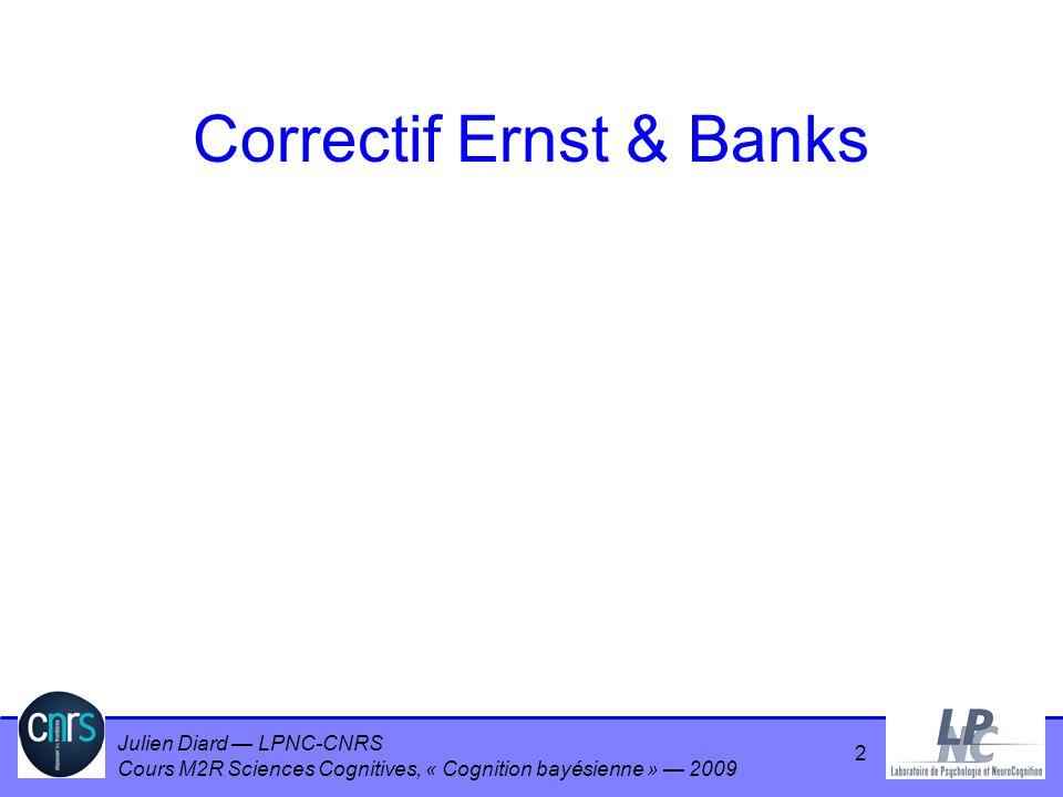 Correctif Ernst & Banks