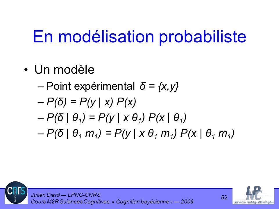 En modélisation probabiliste