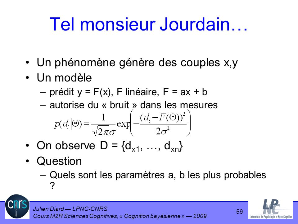 Tel monsieur Jourdain…