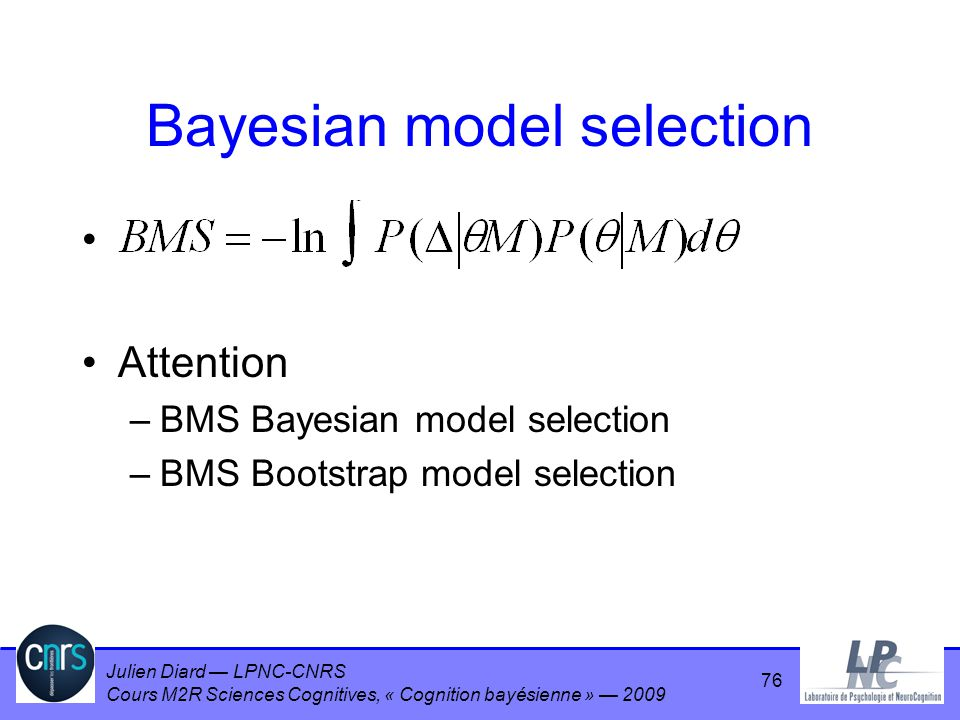 Bayesian model selection