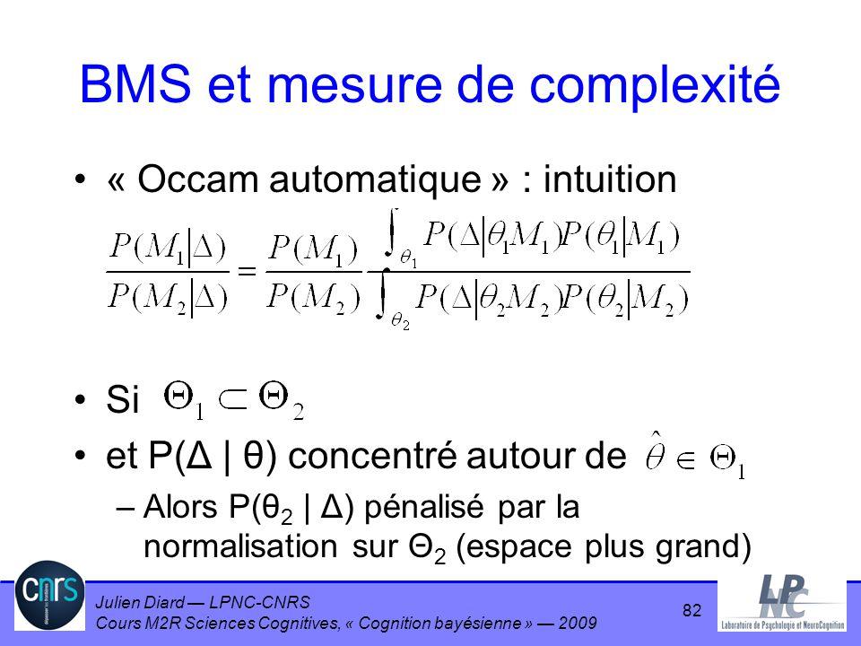 BMS et mesure de complexité