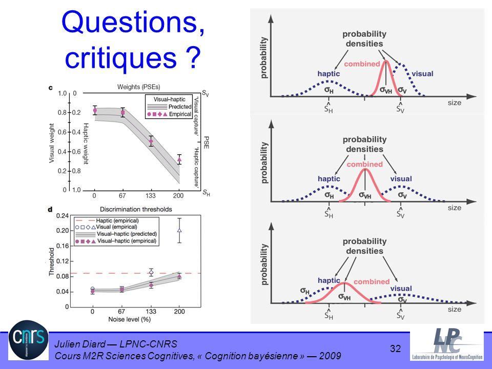 Questions, critiques