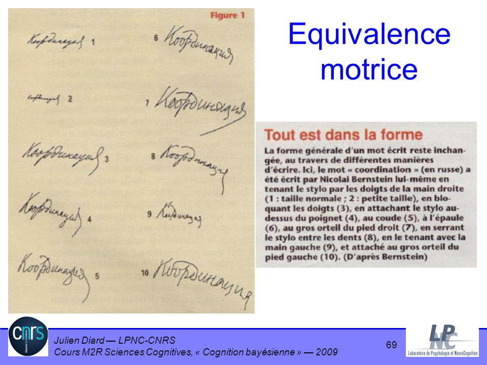 Equivalence motrice