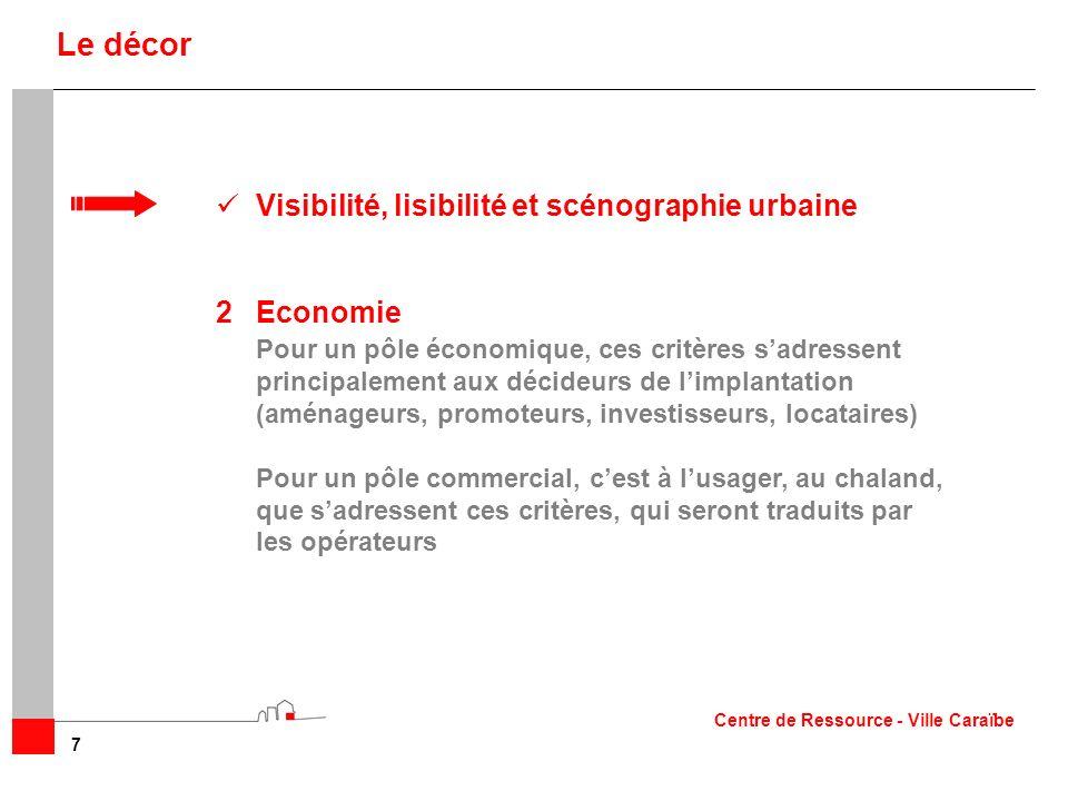 Le décor Visibilité, lisibilité et scénographie urbaine 2 Economie